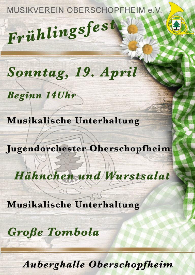 Werbung Frühlingsfest